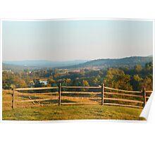 Rustic Hills Poster