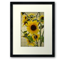 Wildflowers in Style  Oil Art version Framed Print
