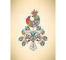 Boho-chic chiks on flower Photographic Print