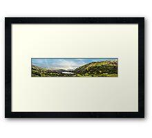 Nant Gwynant panoramic Framed Print