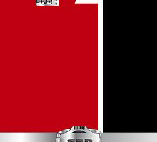PRSPD Red Ranger Phone Case by Russ Jericho
