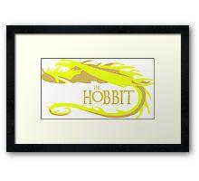 Gold Smaug Framed Print