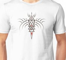 Tribal Angel Outline Unisex T-Shirt