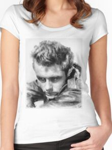 James Dean by John Springfield Women's Fitted Scoop T-Shirt