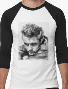 James Dean by John Springfield Men's Baseball ¾ T-Shirt