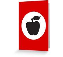 German Apple Front (Front Deutscher Äpfel) Greeting Card