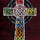 Celtic Cross License Plate Art by designturnpike