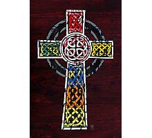 Celtic Cross License Plate Art Photographic Print