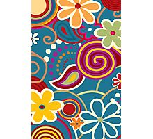Hip 60's Floral pattern  Photographic Print