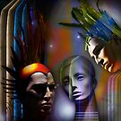 Cosmic Mannequins Triad by RosaCobos