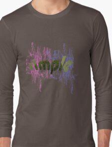 text art Long Sleeve T-Shirt