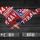 Mustang An American Original License Plate Art by designturnpike