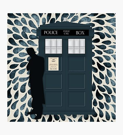 The Doctor and the TARDIS Photographic Print