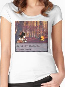 Cyndaquil Encounter Women's Fitted Scoop T-Shirt