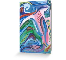 Fish Caught in Abstraction Greeting Card