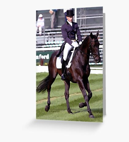 Dressage Horse Transition Portrait Greeting Card