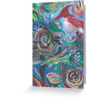 Bird Caught in Abstraction Greeting Card