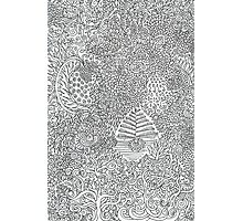 Entangled Trees Doodle Drawing Photographic Print