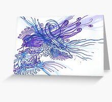Blue and Purple Bird Greeting Card