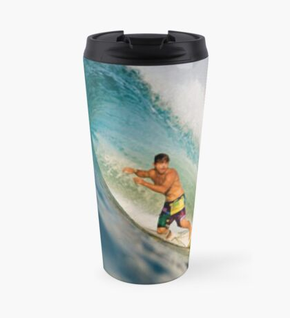 Surfing The Curl Travel Mug