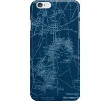 Civil War Maps 1172 Monumental guide to the Gettysburg battlefield A map showing the location of every monument marker and tablet with approaching roads and avenues Inverted iPhone Case/Skin