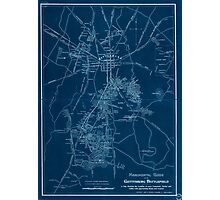 Civil War Maps 1172 Monumental guide to the Gettysburg battlefield A map showing the location of every monument marker and tablet with approaching roads and avenues Inverted Photographic Print