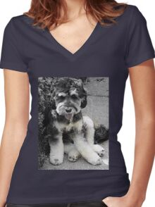 Archie Boy! Women's Fitted V-Neck T-Shirt