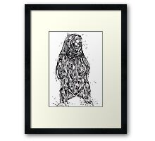 Bearing the Weight of Being a Bear Framed Print