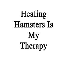 Healing Hamsters Is My Therapy  Photographic Print