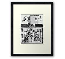 Great Spam Factory for Lovers with a Couple of Kooks Messing Around. Framed Print