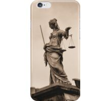 Lady Justice in Dublin iPhone Case/Skin