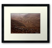 Owendoo Valley From Croaghbane Framed Print