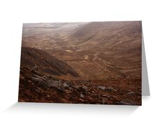 Owendoo Valley From Croaghbane Greeting Card