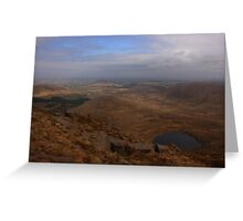 Cronloughan Lough And Owendoo Valley From Glascarns Hill Greeting Card