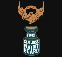 First SAN JOSE Playoff Beard by pointandthread