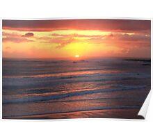 Setting Sun - Spanish Point - Ireland Poster