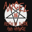 Angel Reign in Black and Orange (outline) by sflassen