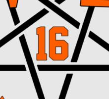 Angel Reign in Black and Orange (outline) Sticker