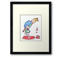 Fishy painting with blood Framed Print