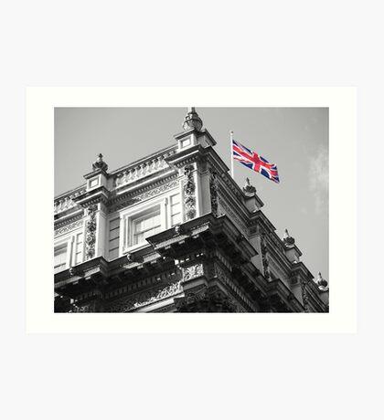 Downing Street Flag Art Print