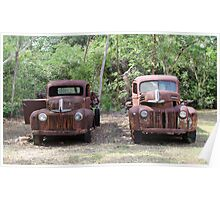 Two Rusty Utes Poster