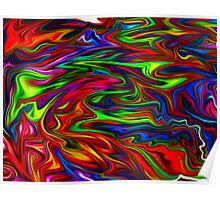 smooth rainbow abstract Poster