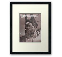 #lovehisdog Framed Print