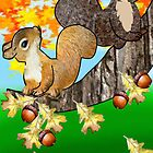 Squirrel with Acorn (2127 Views) by aldona