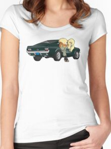 Puppies and a Bullet Women's Fitted Scoop T-Shirt