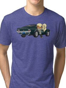 Puppies and a Bullet Tri-blend T-Shirt