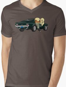 Puppies and a Bullet Mens V-Neck T-Shirt