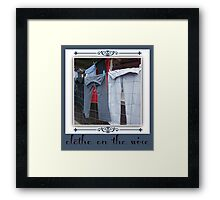 clothes on the wire Framed Print