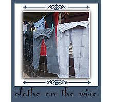clothes on the wire Photographic Print
