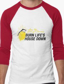 Burn life house Down Men's Baseball ¾ T-Shirt